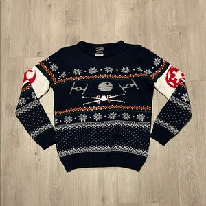 Star Wars Graphic Knit Christmas Holiday Sweater